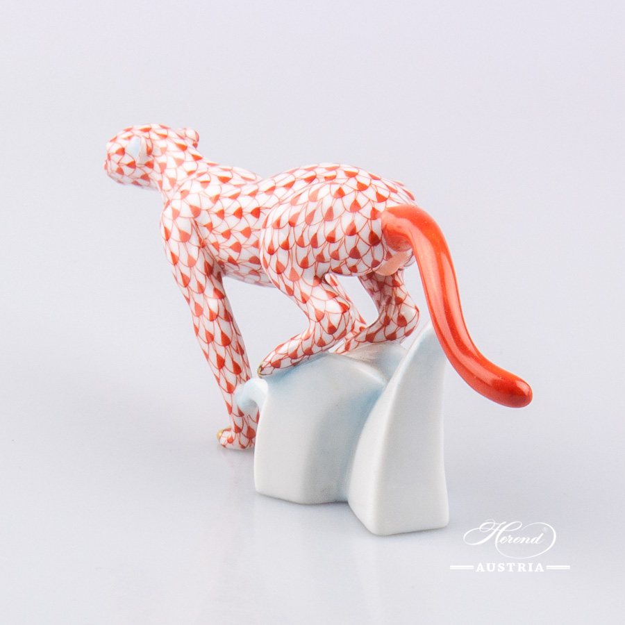 Guepard 15573-0-00 VHR Red - Herend Animal Figurine