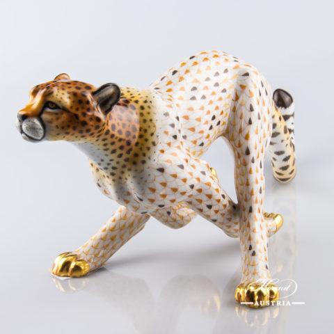 Guepard big 15656-0-00 VHSP32 Special - Herend Animal Figurine. Worldwide Shipping