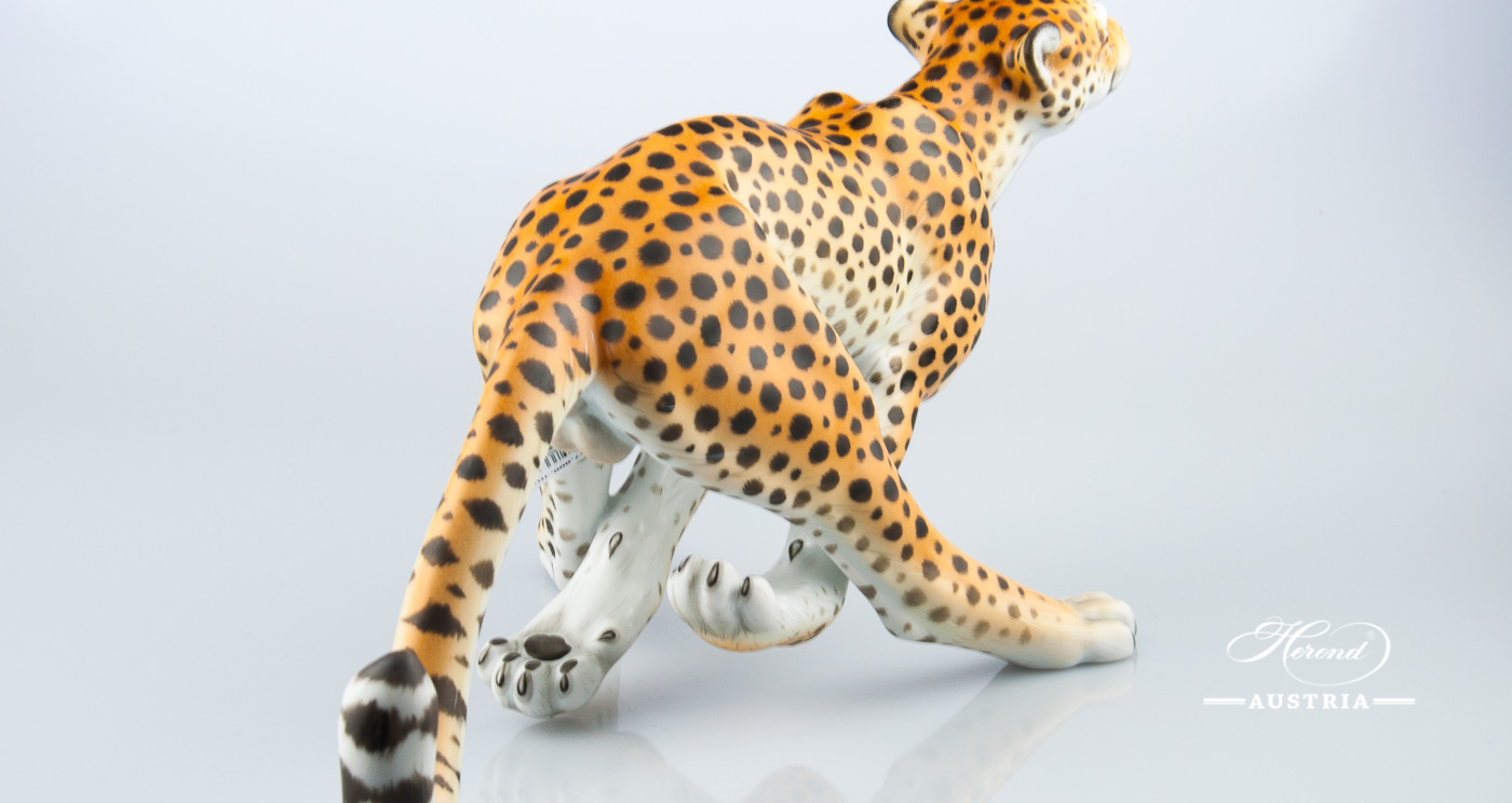 Guepard big 15656-0-00 MCD Naturalistic - Herend Animal Figurine