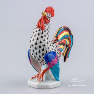 Rooster 15014-0-00 VHN Black - Herend Animal Figurine