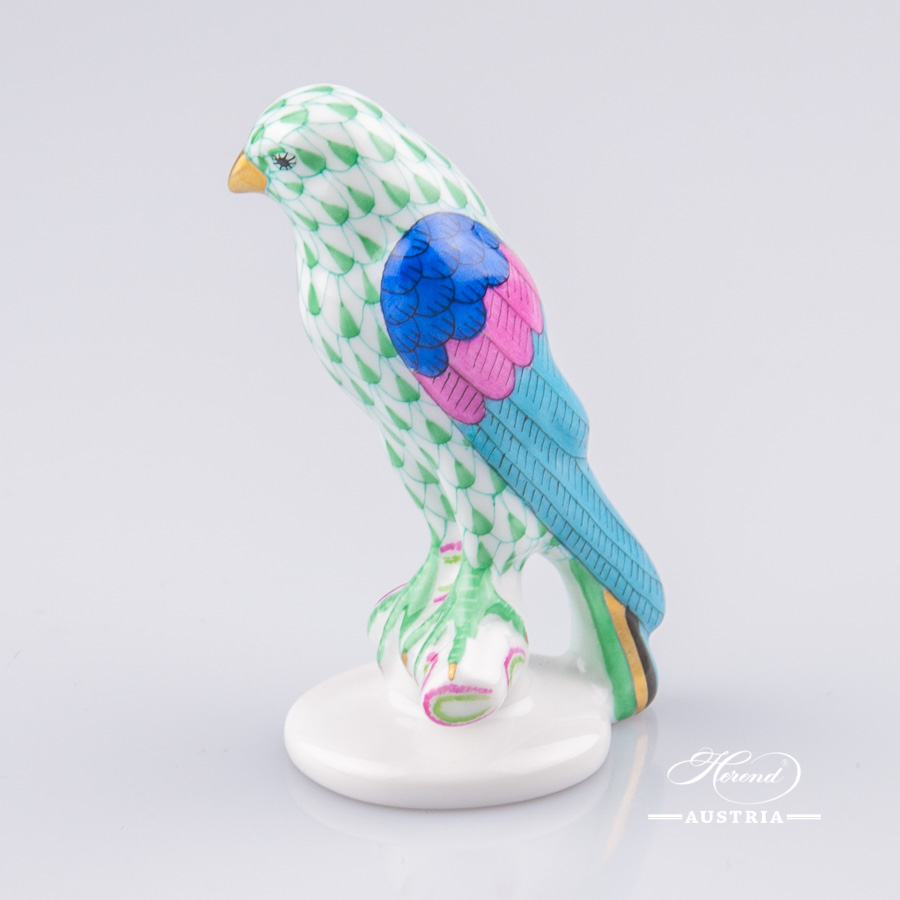 Hawk Small 5095-0-00 VHV Green - Herend Animal Figurine