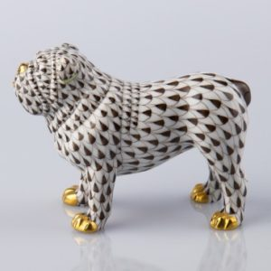 Dog - Bulldog - Herend Animal Figurine