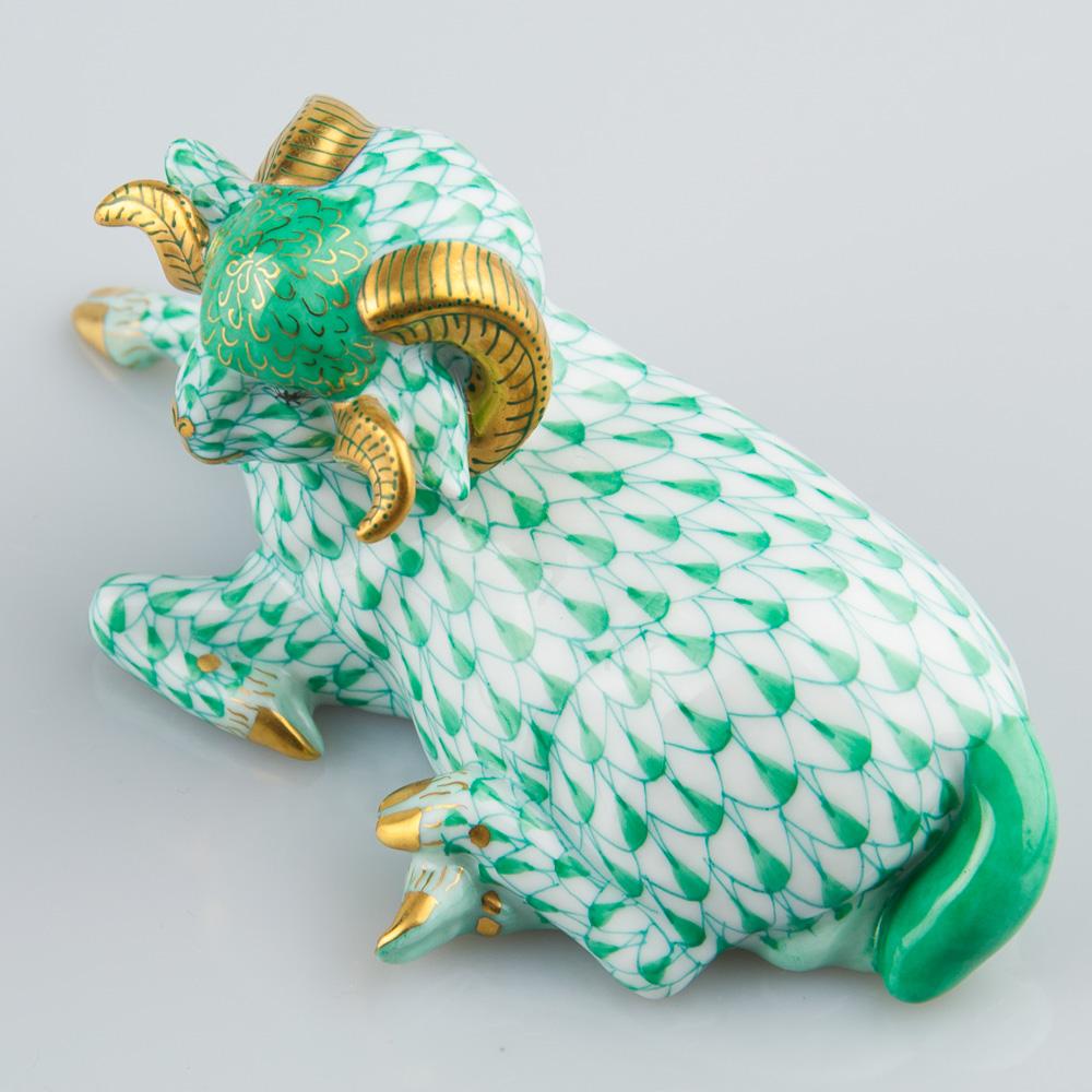 Ram 15379-0-00 VHV Green - Herend Animal Figurine