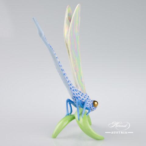 Dragonfly 15276-0-00 VHB Blue - Herend Animal Figurine