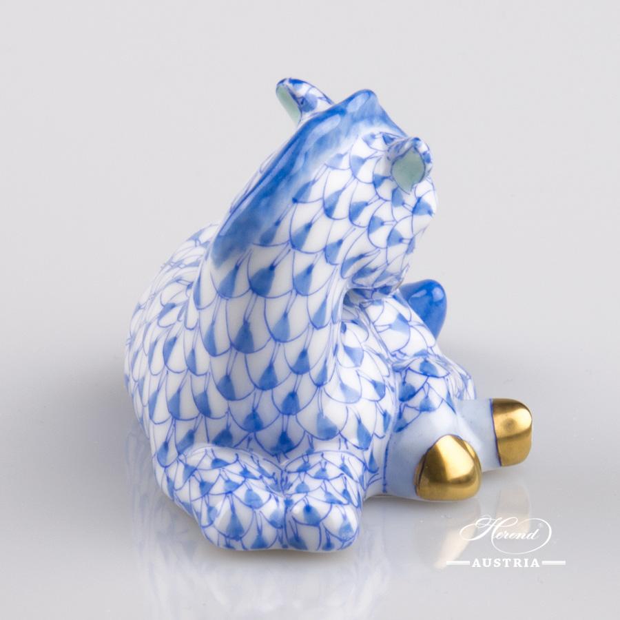Foal 15618-0-00 VHB Blue - Herend Animal Figurine