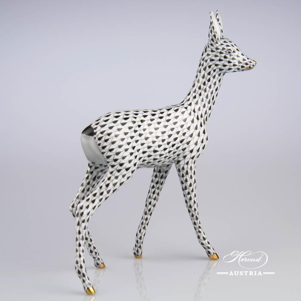 Roe 15282-0-00 VHNM Black - Herend Animal Figurine