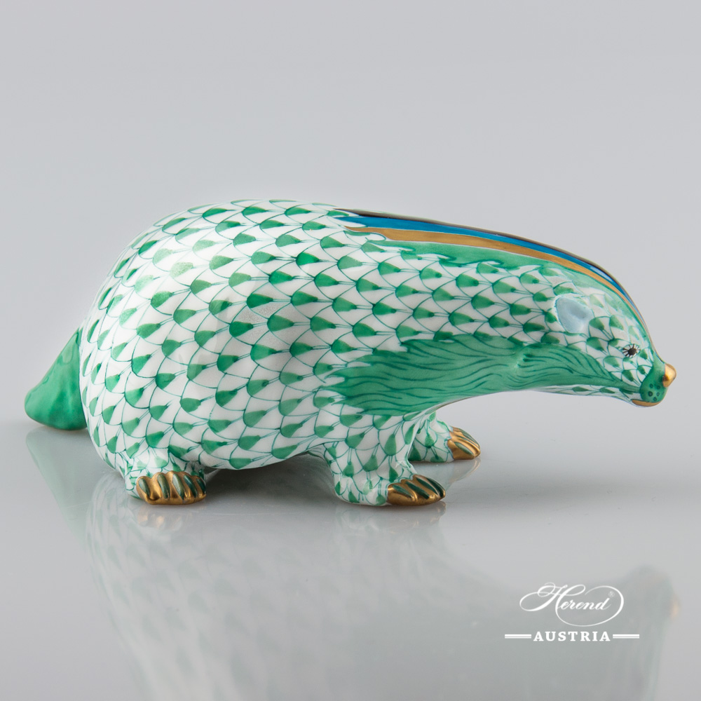 Badger 15373-0-00 VHV Green - Herend Animal Figurine