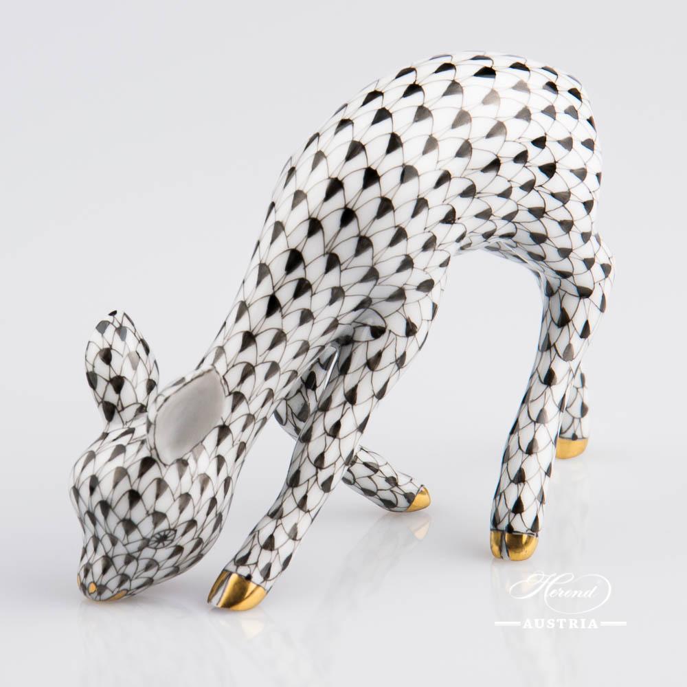 Roe Bamby 15279-0-00 VHNM Black - Herend Animal Figurine