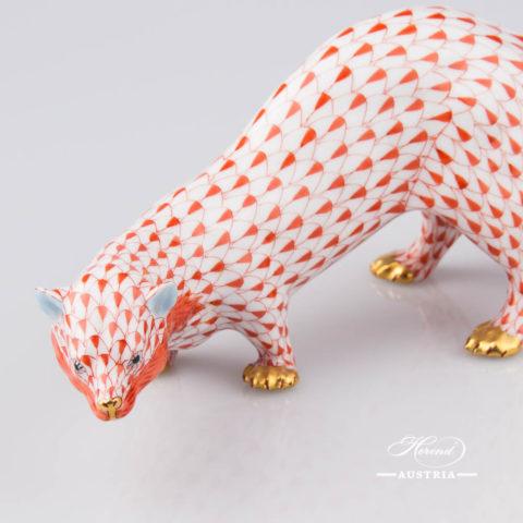 Beech Marten 15371-0-00 VHR Red - Herend Animal Figurine