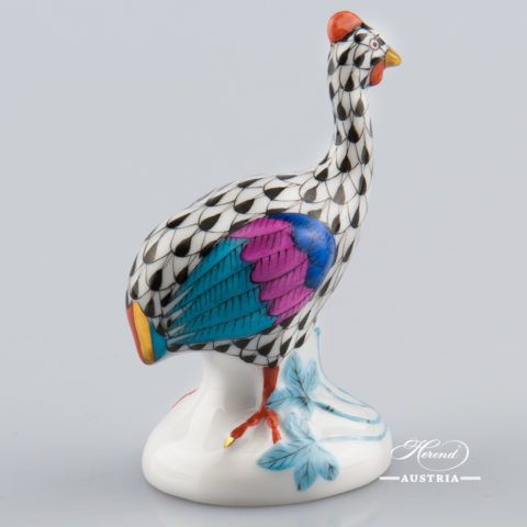 Guinea Fowl small 5100-0-00 VHN Black - Herend Animal Figurine