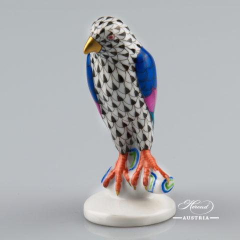 Hawk 5095-0-00 VHN Black - Herend Animal Figurine