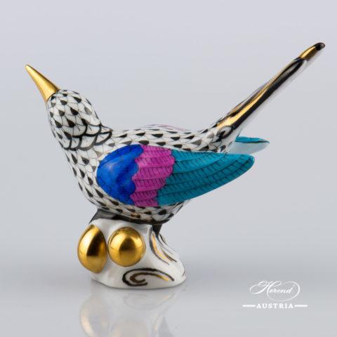 Hummingbird 5111-0-00 VHNM Black - Herend Animal Figurine