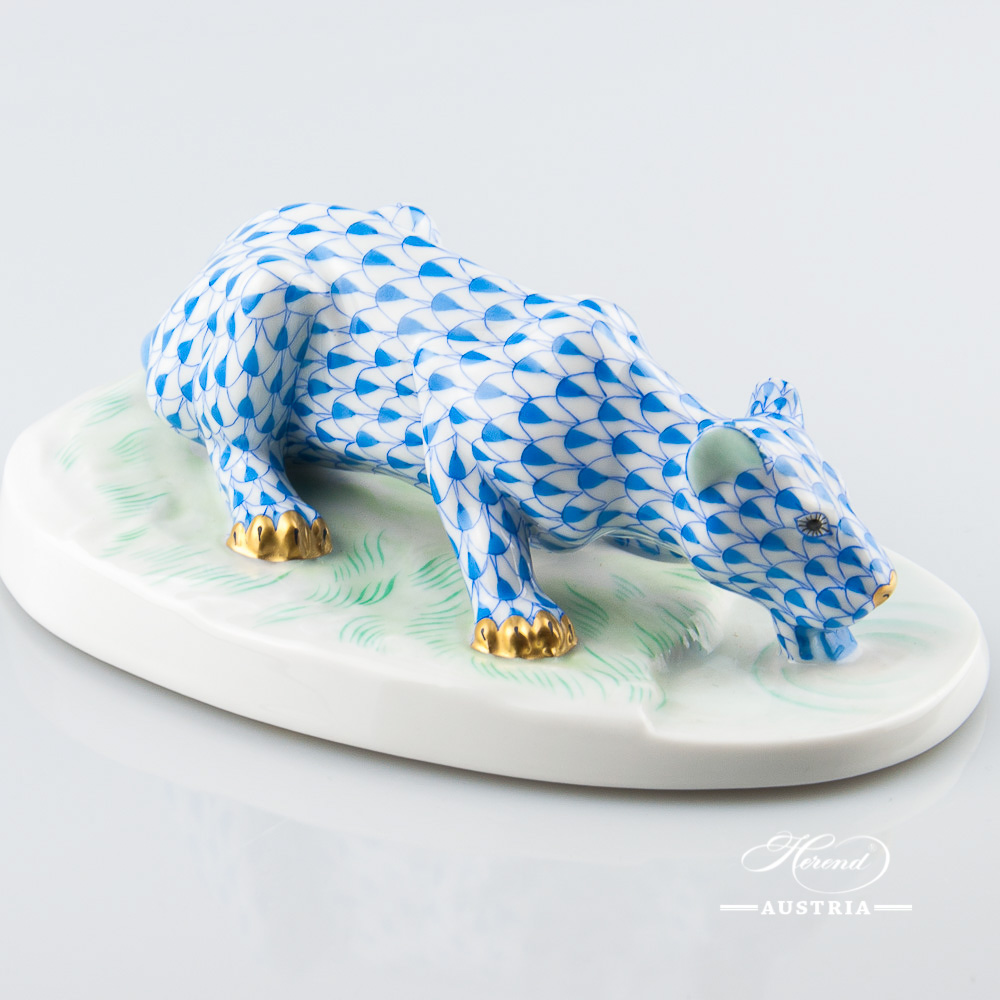 Lioness 15444-0-00 VHB Blue - Herend Animal Figurine