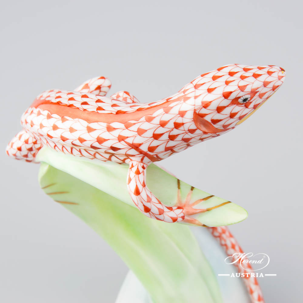 Lizard 15268-0-00 VHR Red - Herend Animal Figurine