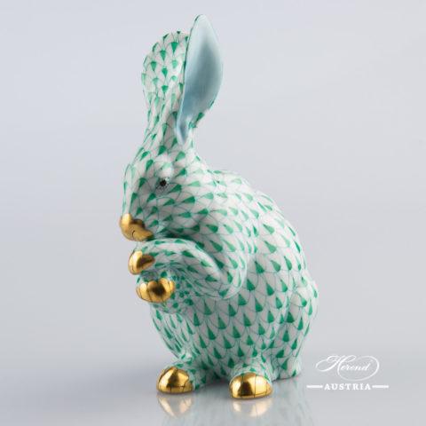 Rabbit 15307-0-00 VHV Green - Herend Animal Figurine