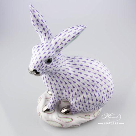 Rabbit big 5334-0-00 VHL-PT Violet - Herend Animal Figurine