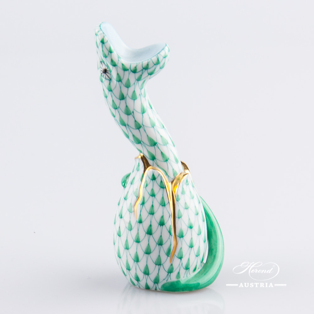 Snake 15344-0-00 VHV Green - Herend Animal Figurine