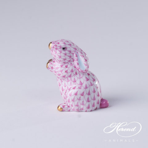 "Elephant Small 5265-0-00 VHN Black Fish scale decor. Herend Fine china animal figurine. Hand painted. Height: 4.8 cm (2""H)"