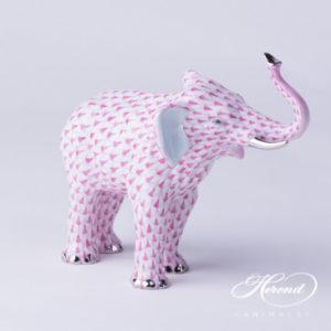 "Elephant 15920-0-00 VHP-PT Purple Fish scale with Platinum decor. Herend fine china animal figurine. Hand painted. Length: 15.0 cm (6""L)"