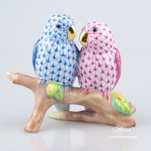 Love Birds 15728-0-00 VHQ-8 and C Blue - Herend Animal Figurines