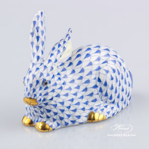 Rabbit 15335-0-00 VHFB Dark Blue - Herend Animal Figurines