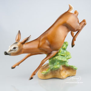 Deer Jumping 16261-0-00 MCD Naturalistic - Herend Animal Figurine