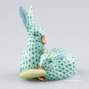 Pair of Rabbits 5326-0-00 VHV Green - Herend Animal Figurine