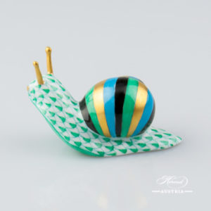 Snail 5360-0-00 VHV Green - Herend Animal Figurine
