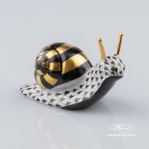 Snail 5360-0-00 VHNM Black - Herend Animal Figurine