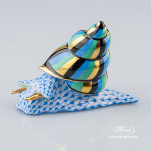 Snail 15375-0-00 VHB Blue - Herend Animal Figurine
