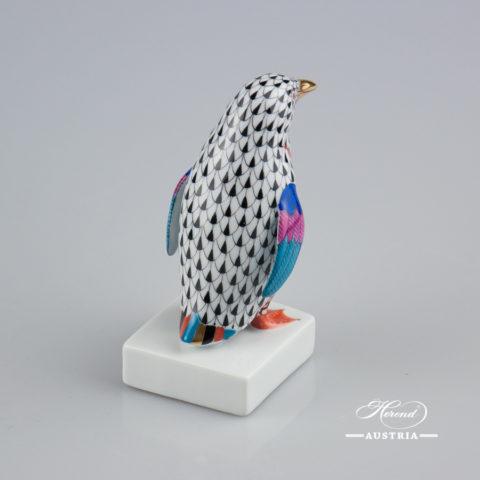 Penguin 5176-0-00 VHN Black - Herend Fine china Animal Figurine