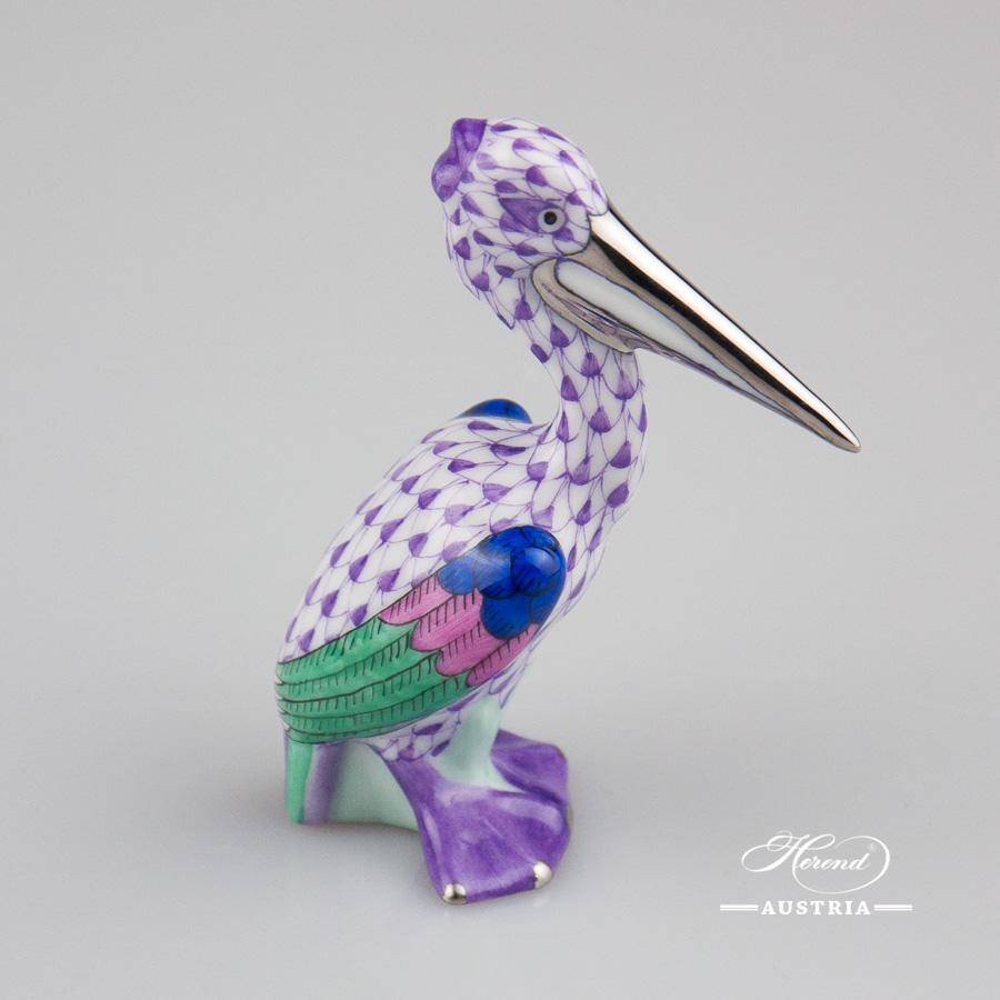 Pelican 5170-0-00 VHL-PT Violet - Herend Fine china Animal Figurine