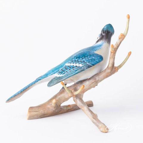 "Blue Jay 15342-0-00 MCD Natural Mattesurface design. Herend Fine china animal figurine. Handpainted. Height 18.5 cm (7.25""H)."