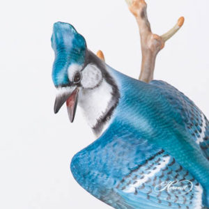 "Blue Jay 15342-0-00 MCD Natural Matte surface design. Herend Fine china animal figurine. Handpainted. Height 18.5 cm (7.25""H)."