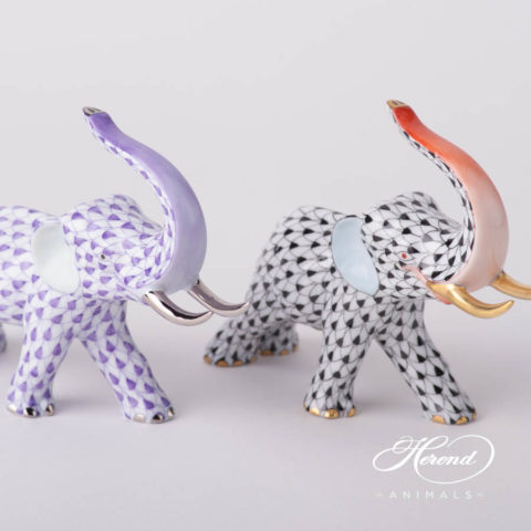 "Small Snail 15518-0-00 SNS Siang Noir Special decor. Herend fine china animal figurine. Hand painted. Length: 4.6 cm (1.75""L)"