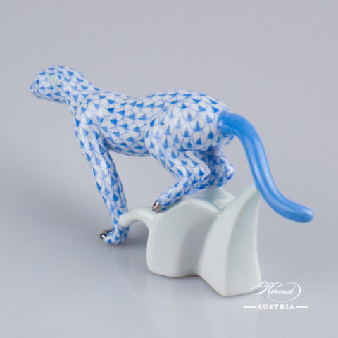 Guepard 15573-0-00 VHB-PT Blue - Herend Fine china Animal Figurine