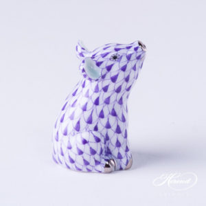 "Giraffe 15329-0-00 VHL Lilac Fish Scale decor. Herend fine china animal figurine. Hand painted. Height 19.5 cm (7.75""H)"