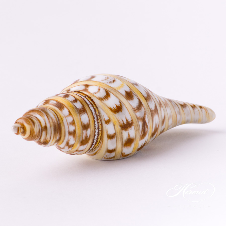 """Sea Snail 15535 MCD Naturalistic Matte surface decor. Herend Fine china animal figurine. Hand painted. Length: 12.7 cm (5""""L)"""