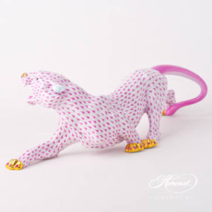 "Big Tiger 5209-0-00 VHP Purple / Raspberry Fish scale decor. Herend fine china animal figurine. Hand painted. Length: 45.2 cm (17.75""L)"