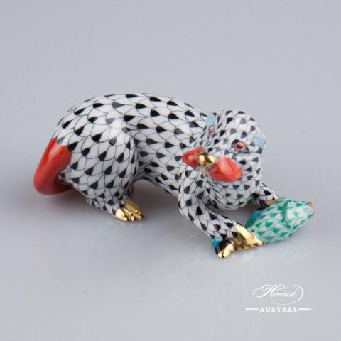 Sea Otter 15646-0-00 VHN Black - Herend Fine china Animal Figurine