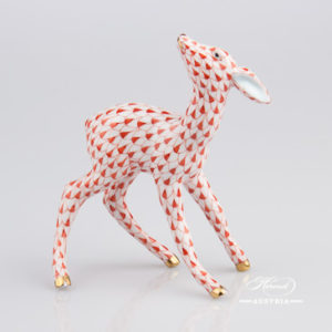 Roe Fawn 15287-0-00 VHR Red - Herend Animal Figurine