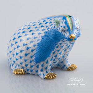 Badger 15374-0-00 VHB Blue - Herend Animal Figurine