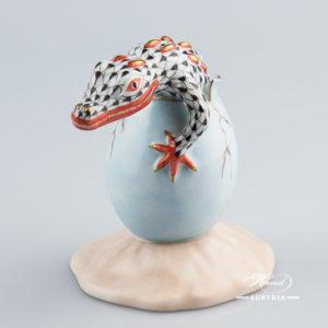Crocodile Baby 15930-0-00 VHN - Herend Animal Figurine