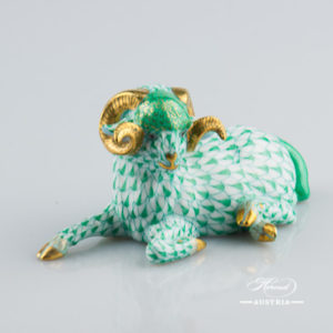Ram 15379-0-00 VHV Green - Herend Animal Figurine