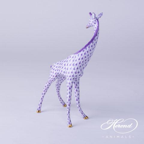 "Rabbit 15068-0-00 VHB Blue Fish scale design. Herend fine china animal figurine. Handpainted. Height: 5 cm (2""H)."
