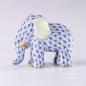 Elephant Animal Figurines: VHL - VHFB - VHB - PTVH Fish scale patterns. Herend Fine china hand painted