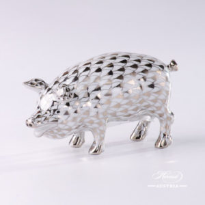 "Roe Buck 15589-0-00 VHBR1 Brown Fish scale decor. Herend Fine china animal figurine. Hand painted. Length 12.0 cm (4.75""L)"