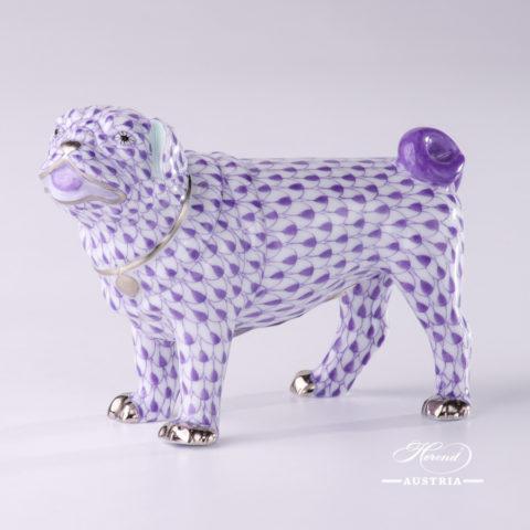 Pug Lola 15490-0-00 VHL-PT Violet - Herend Fine china Animal Figurine
