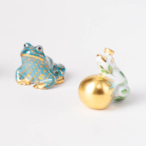 Frogs - Herend fine china animal figurines