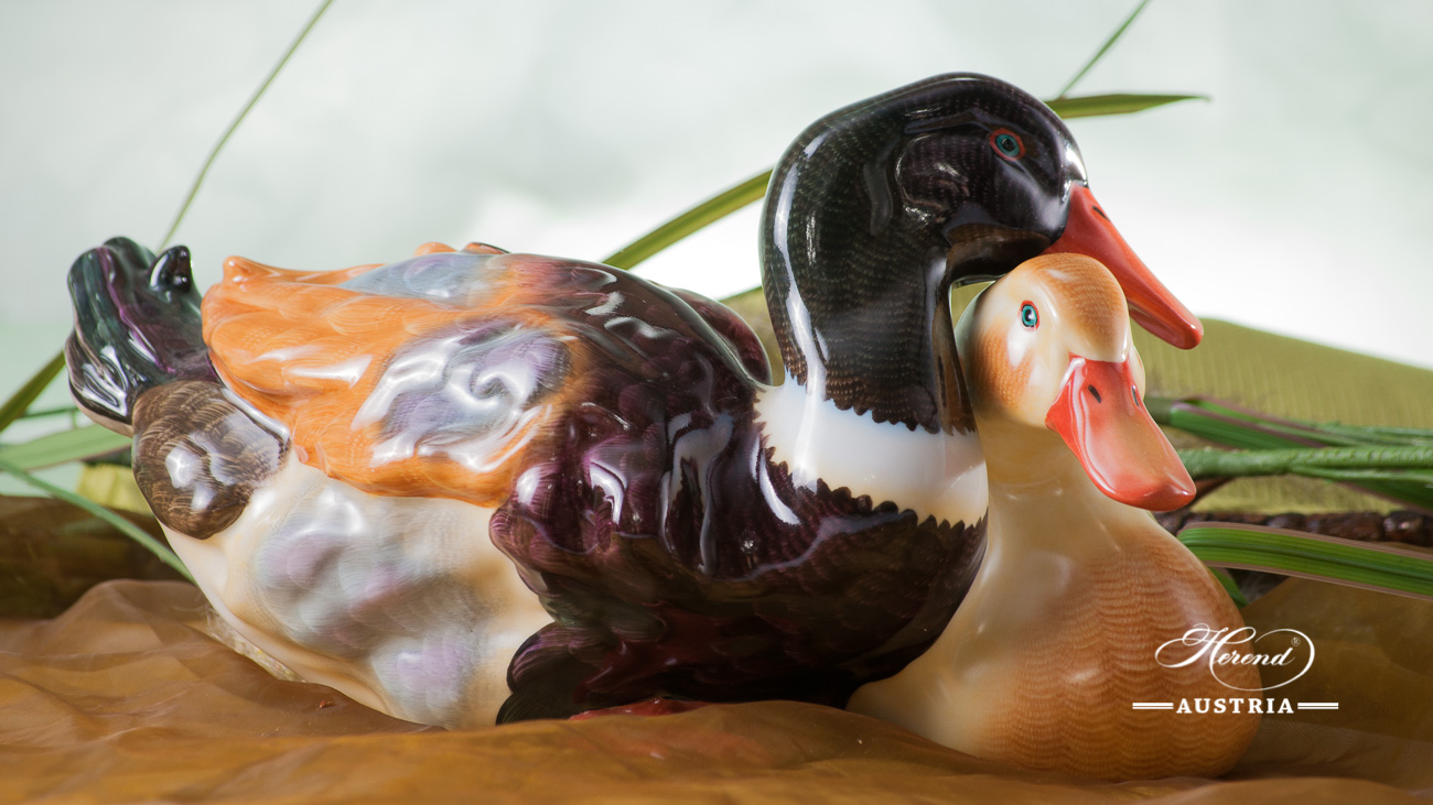 Pair of Ducks 5035-0-00 CD Naturalistic - Herend Animal Figurine